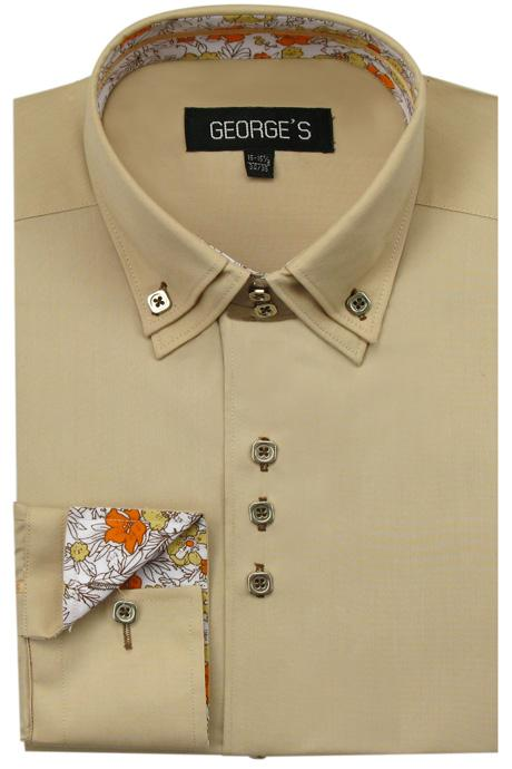 Men's Dress Shirt AH610-TAN Sizes 15-20