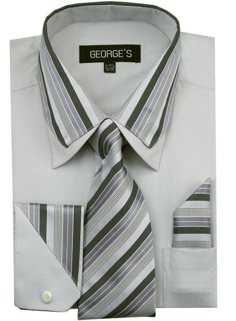 Men's Dress Shirt AH611-GR Sizes 15-20