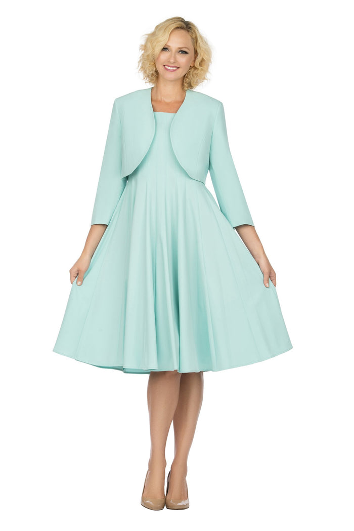 Giovanna 2 Piece Flare Jacket Dress D1540 Sizes 10-22W
