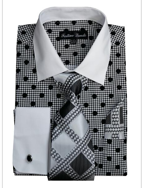 Men's Dress Shirt FL632-BLK Sizes 15-20