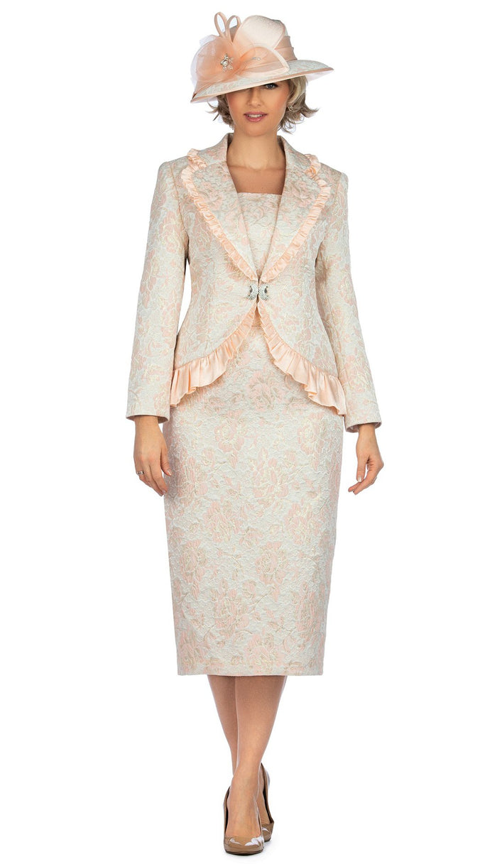 Giovanna 2 Piece Brocade Skirt Suit 0937 Sizes 8-26W