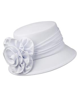 Giovanna Small Fabric Covered Hat HW1007