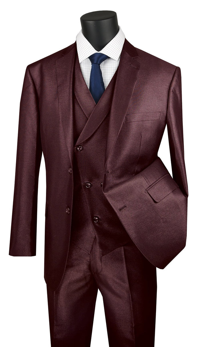 Vinci MV2R Modern Fit 3-Piece Suit Sizes 36S-52L