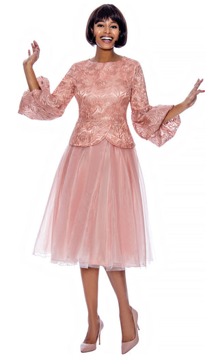 terramina. peach church dress