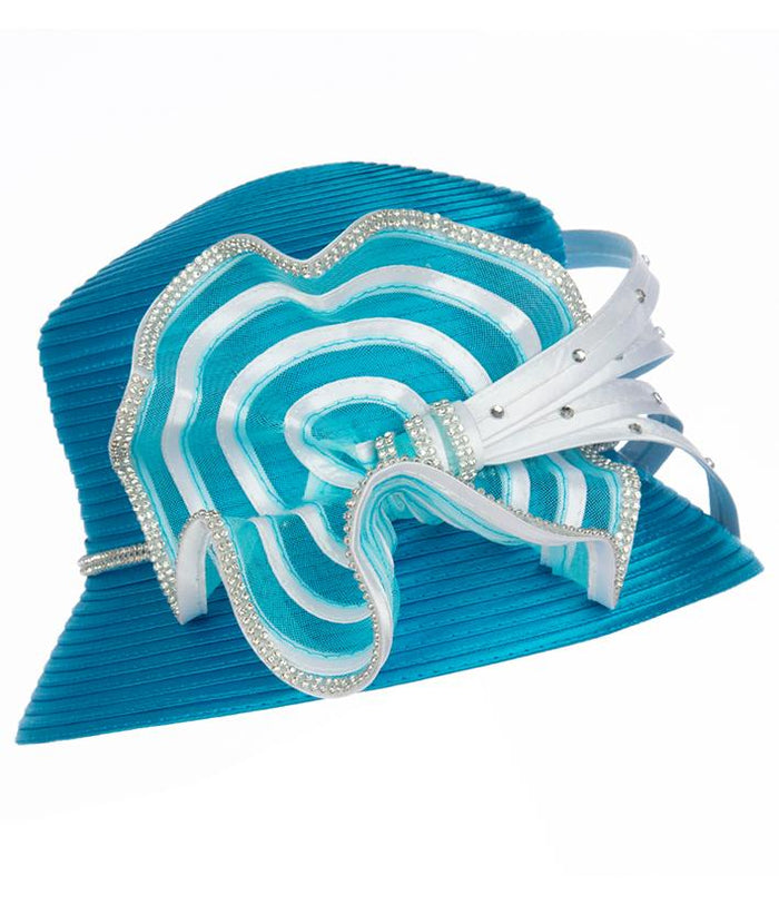Giovanna Small Brim Satin Ribbon Hat HR1058