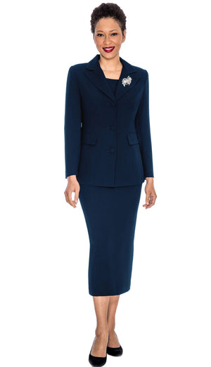 giovanna, 0655, navy usher suit, navy skirt suit