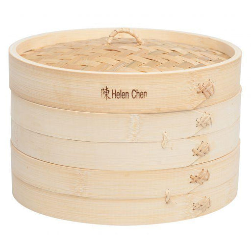"Asian 10"" Bamboo Steamer Basket - Faraday's Kitchen Store"