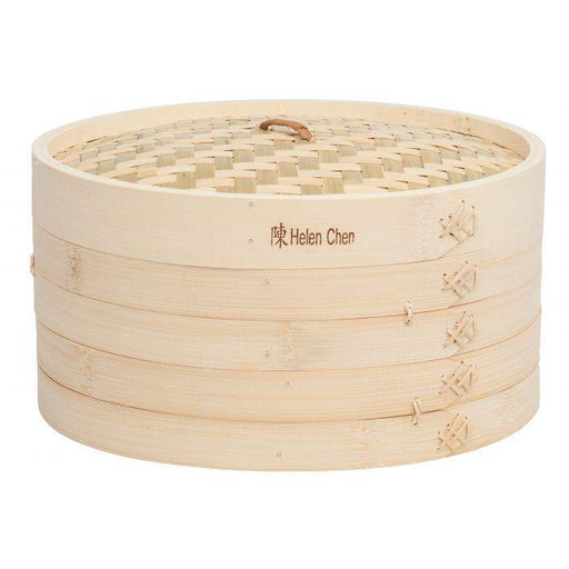 "Asian 12"" Bamboo Steamer Basket - Faraday's Kitchen Store"