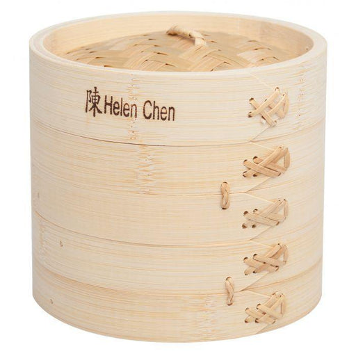 "Asian 6"" Bamboo Steamer Basket - Faraday's Kitchen Store"