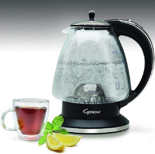 Capresso H20 Electric Glass Kettle - Faraday's Kitchen Store