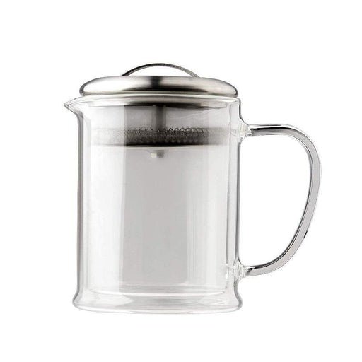 CasaWare 15-Oz Double Wall Glass Teapot - Faraday's Kitchen Store