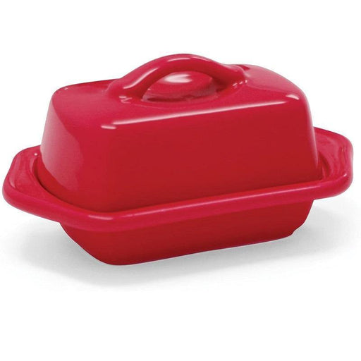 Chantal Mini Red Butter Dish - Faraday's Kitchen Store