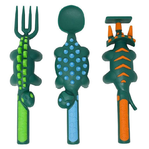 Constructive Eating Dino Utensil Pack - Faraday's Kitchen Store