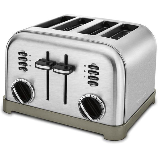 Cuisinart 4-Slice Compact Metal Toaster - Faraday's Kitchen Store