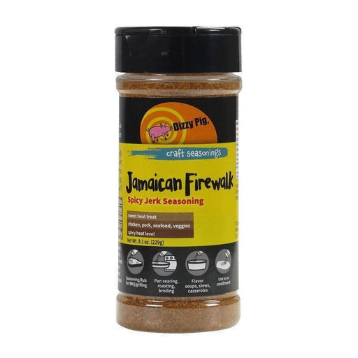 Dizzy Pig Jamaican Firewalk Spicy Jerk Seasoning - Faraday's Kitchen Store
