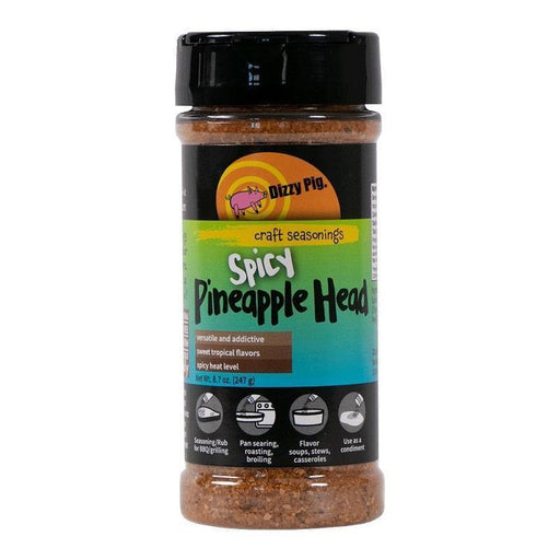 Dizzy Pig Spicy Pineapple Head Seasoning - Faraday's Kitchen Store