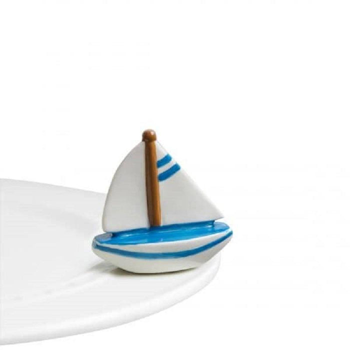 Nora Fleming Sail Me Away Mini - Faraday's Kitchen Store