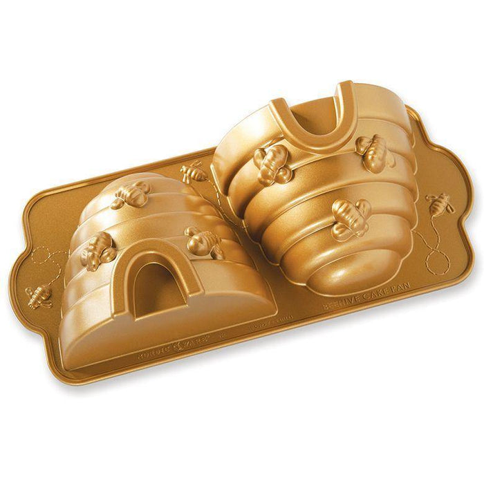 Nordic Ware Beehive 3-D Cake Pan with Gold Nonstick - Faraday's Kitchen Store