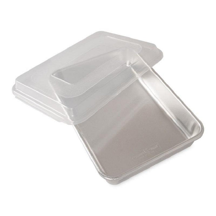 Nordic Ware Naturals Aluminum Rectangular Cake Pan with Lid - Faraday's Kitchen Store
