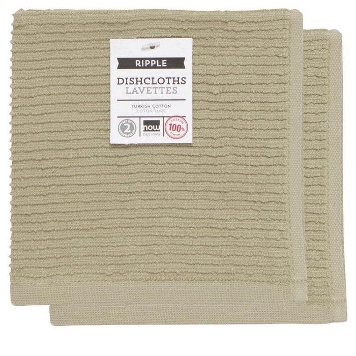 Now Designs Sandstone Ripple Dishcloths - Faraday's Kitchen Store
