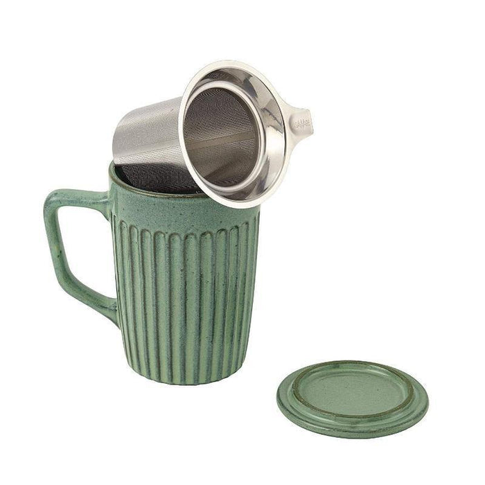 Tilt & Drip Tea Infuser Mug Moss Green - Faraday's Kitchen Store