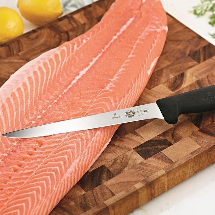 "Victorinox Swiss Army Fibrox Pro 8"" Straight Fish Fillet Knife - Faraday's Kitchen Store"