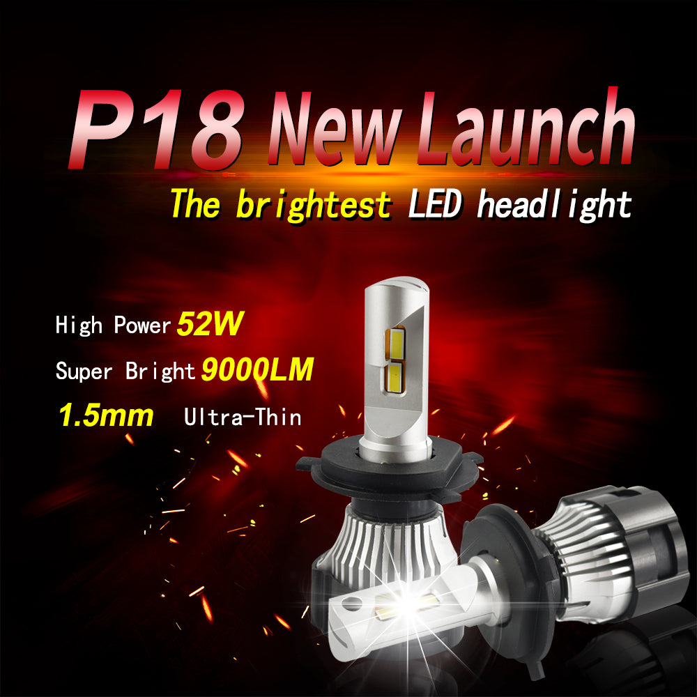 9006/HB4 Turbo fan P18 led bulb 52W 9000LM 6500K