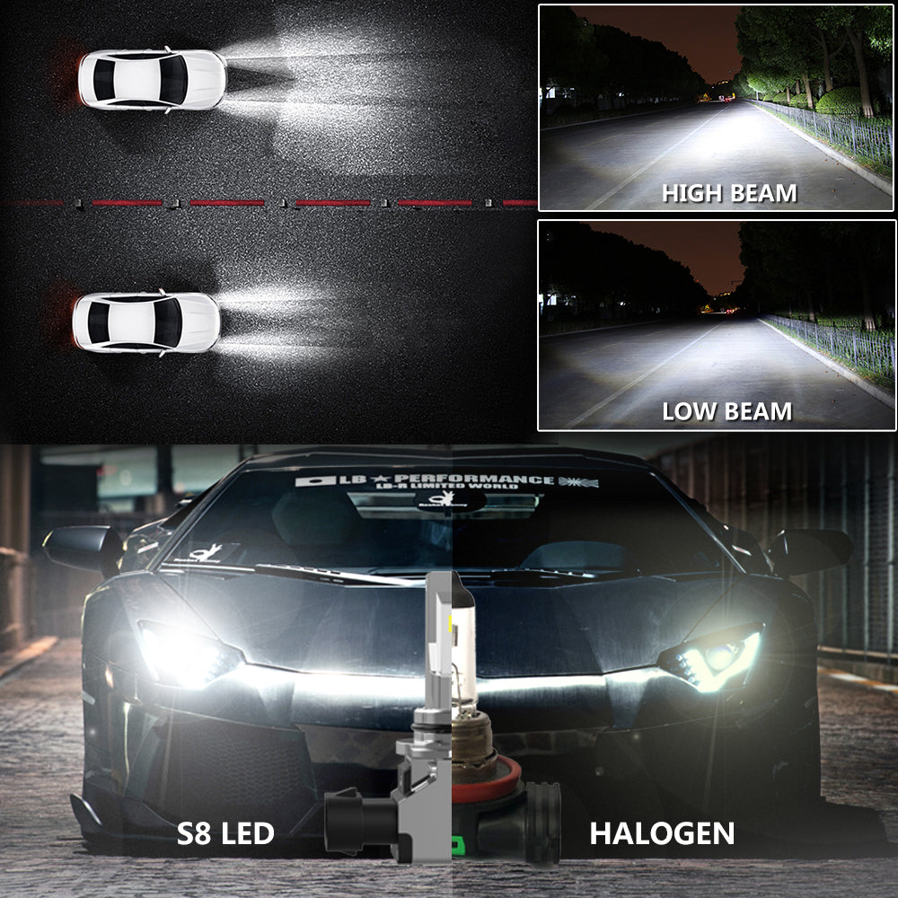 H4 S8 auto light halogen lamp 40W 4600LM 6500K
