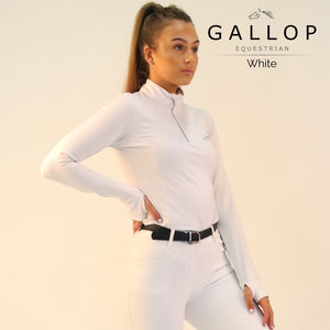 Gallop Long Sleeve Zipped Neck Base Layer