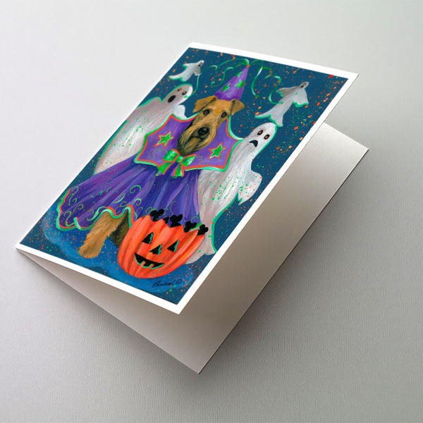 Buy this Airedale Boo Hoo Halloween Greeting Cards and Envelopes Pack of 8