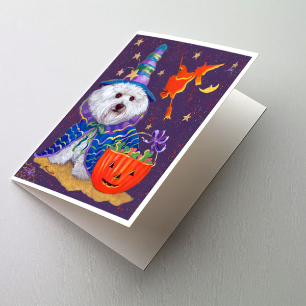 Buy this Bichon Frise Boo Halloween Greeting Cards and Envelopes Pack of 8
