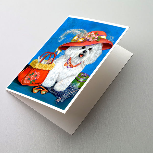 Buy this Bichon Frise Mademoiselle Greeting Cards and Envelopes Pack of 8