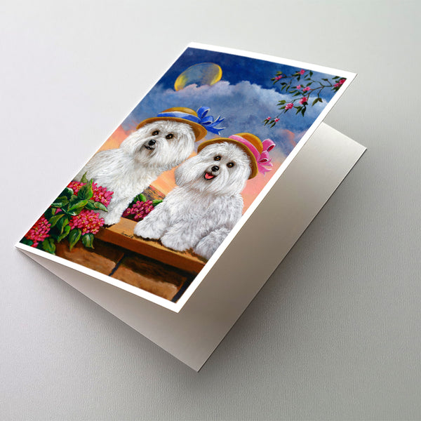 Buy this Bichon Frise Soulmates Greeting Cards and Envelopes Pack of 8