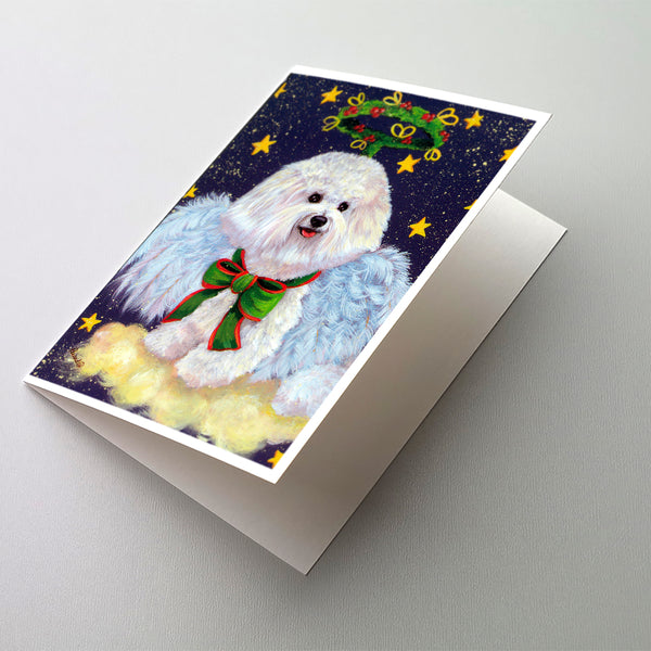 Buy this Bichon Frise Christmas Angel Greeting Cards and Envelopes Pack of 8