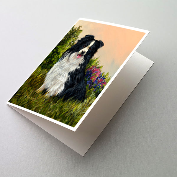 Buy this Border Collie Simplicity Greeting Cards and Envelopes Pack of 8