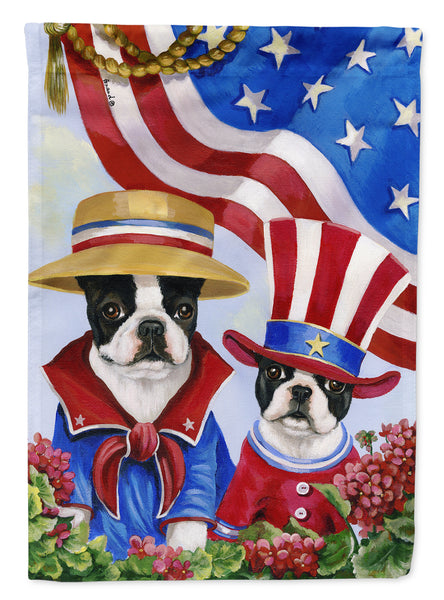 Buy this Boston Terrier USA Flag Canvas House Size PPP3038CHF