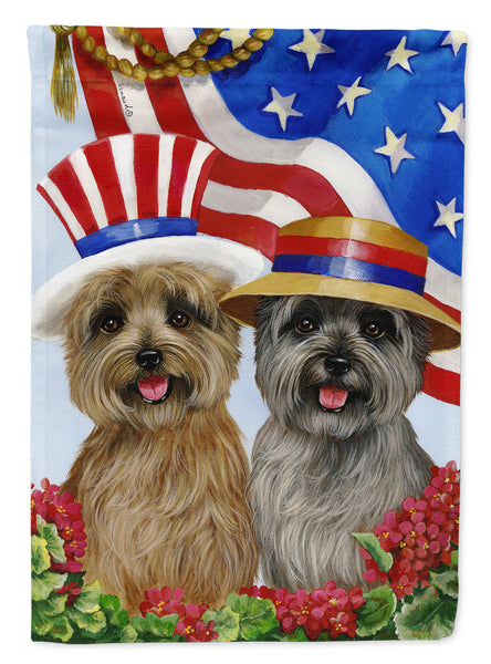 Buy this Cairn Terrier USA Flag Canvas House Size PPP3060CHF