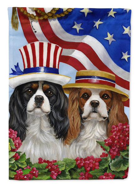 Buy this Cavalier Spaniel USA Flag Canvas House Size PPP3069CHF
