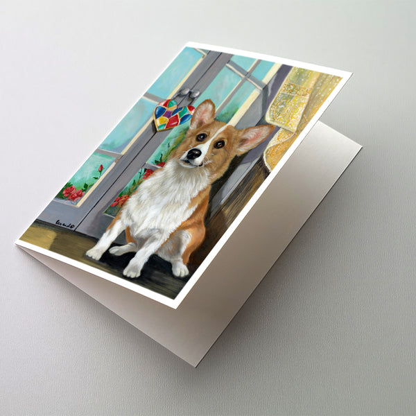 Buy this Corgi Suncatcher Greeting Cards and Envelopes Pack of 8