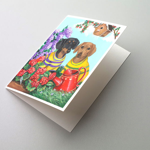 Buy this Dachshund Blooms Greeting Cards and Envelopes Pack of 8