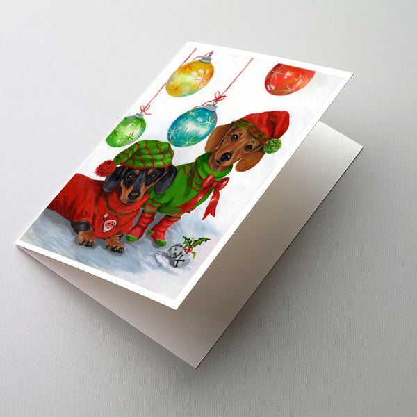 Buy this Dachshund Christmas Jingle Greeting Cards and Envelopes Pack of 8