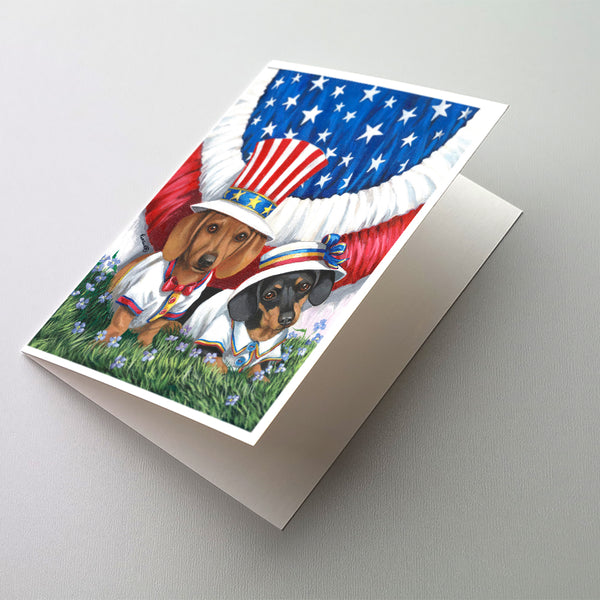 Buy this Dachshund USA Greeting Cards and Envelopes Pack of 8