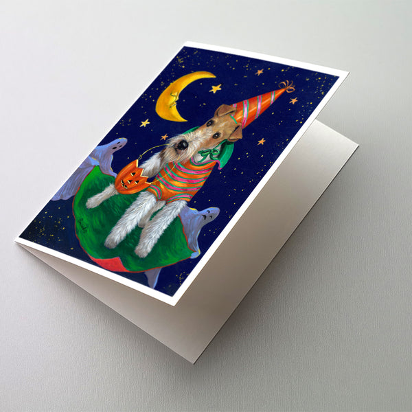 Buy this Fox Terrier Halloween Trick or Treat Greeting Cards and Envelopes Pack of 8