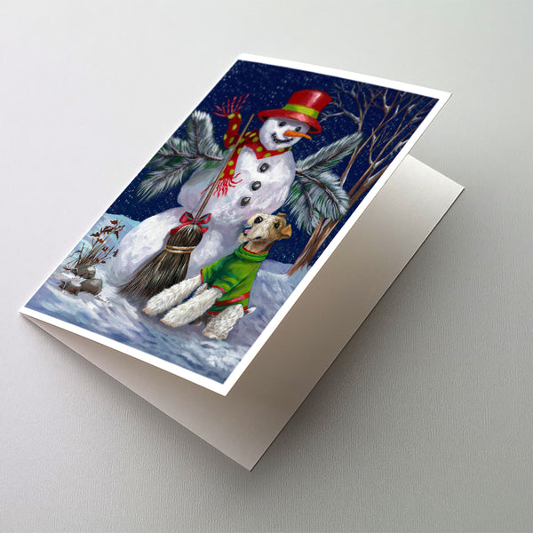 Buy this Fox Terrier Christmas Winter Fun Greeting Cards and Envelopes Pack of 8