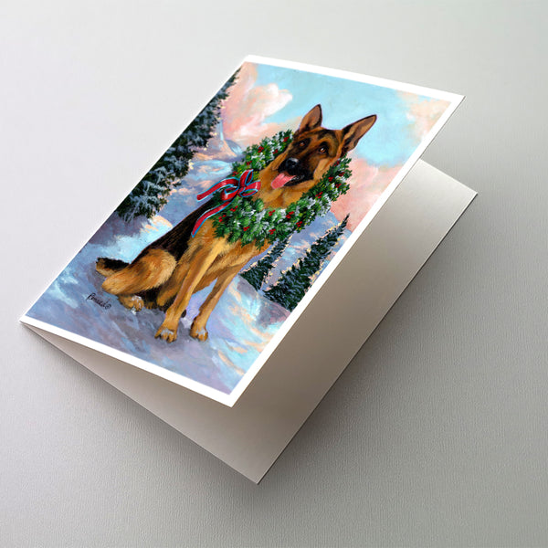 Buy this German Shepherd Christmas Honor Greeting Cards and Envelopes Pack of 8