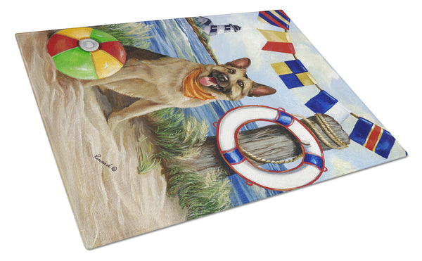 Buy this German Shepherd Life Saver Glass Cutting Board Large PPP3099LCB