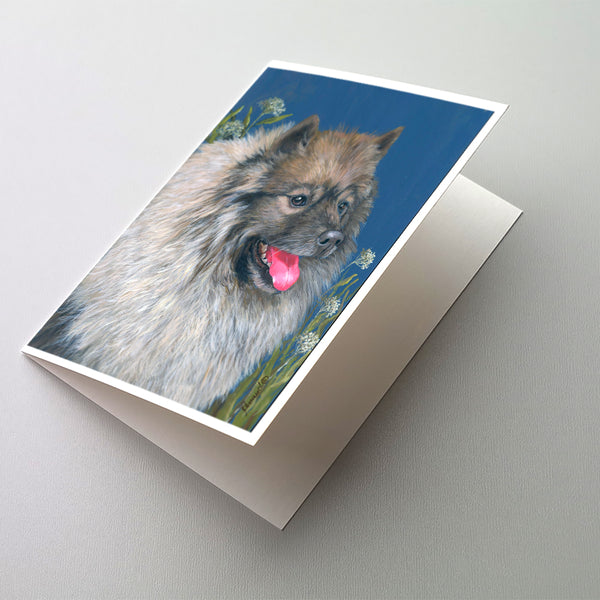 Buy this Keeshond Greeting Cards and Envelopes Pack of 8