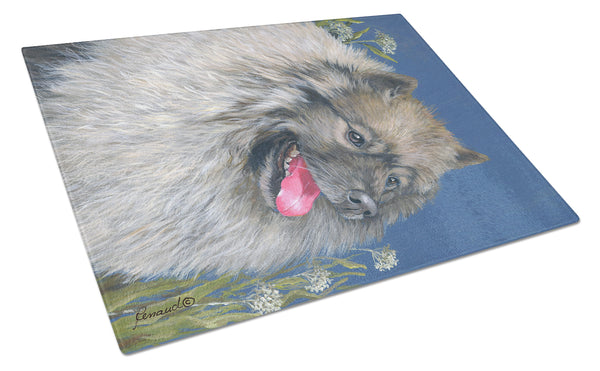 Buy this Keeshond Glass Cutting Board Large PPP3110LCB