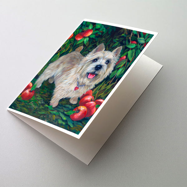 Buy this Norwich Terrier Apple Grove Greeting Cards and Envelopes Pack of 8