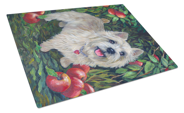 Buy this Norwich Terrier Apple Grove Glass Cutting Board Large PPP3116LCB
